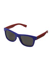 Lacoste Full Rim Square Blue Sunglasses for Kids, Grey Lens, LA-L3617S-424, 48/17/130