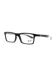 Ray-Ban Full Rim Rectangle Black Frame Unisex, RX8901-5263, 53/17/145