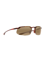 Maui Jim Polarized Full Rim Rectangle Tortoise Sunglasses Unisex, Brown Lens, MJ-H409, 61/15/130