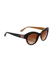 Vogue Full Rim Cat Eye Brown Sunglasses for Women, Brown Lens, VO2872S-218413, 50/19/135