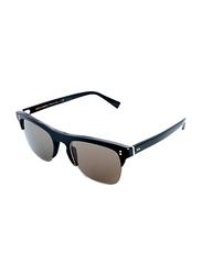 Dolce & Gabbana Half-Rim Brow Line Black Sunglasses for Men, Grey Lens, DG4305-501/R5, 53/20/145