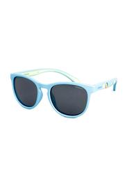 Polaroid Full Rim Square Blue Azure Sunglasses for Boys, Grey Lens, PLD-8013/S-MBL46Y2, 46/16/127