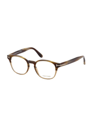 Tom Ford Full Rim Round Beige Frame for Men, FT-540065A48, 49/19/145