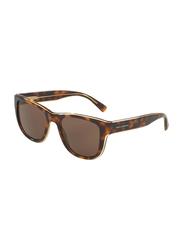 Dolce & Gabbana Full Rim Square Tortoise Brown Sunglasses for Men, Brown Lens, DG4284-304973, 54/20/145