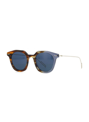 Dior Full Rim Square Havana/Lilla Sunglasses for Men, Blue Lens, CD-DRMASTER-AB847KU, 47/22/150