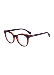 Fendi Full Rim Round Purple Frame for Women, FN-0249-B3V5019, 50/19/140
