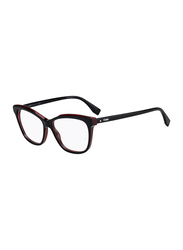 Fendi Full Rim Rectangle Black Frame for Women, FN-0251-8075415, 54/15/140