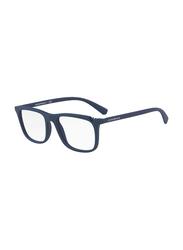 Emporio Armani Full Rim Rectangle Blue Frame for Men, EM-3110-5600, 55/18/145