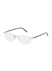 Rodenstock Full Rim Square Silver/Blue Frame for Men, RS-R7074-C140-5317, 53/17/140