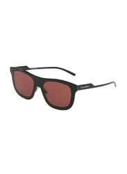 Dolce & Gabbana Full Rim Square Black Sunglasses for Men, Purple Lens, DG2174-01/75, 42/0/145