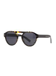 Dior Full Rim Aviator Dark Havana Sunglasses for Men, Grey Lens, CD-BLKTIE254-581622K, 51/20/150