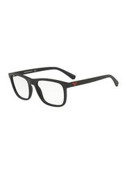 Emporio Armani Full Rim Square Black Frame for Men, EM-3140-5042, 53/19/145