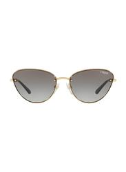Vogue Full Rim Cat Eye Gold Sunglasses for Women, Black Lens, VO4111S-280/11, 57/16/135