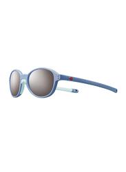 Julbo Frisbee Full-Rim Round Light Blue Sunglasses for Kids, with Blue Light Filter, Grey Lens, 2-4 Years, JBF-FRISBEEJ5231137, 40/16/109