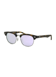 Ray-Ban Full Rim Clubmaster Matte Havana Sunglasses for Kids, Purple Mirrored Lens, RJ9050S-70184V, 45/16/125