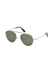 Tom Ford Full Rim Aviator Gold Sunglasses Unisex, Black Lens, FT-059928N55, 55/19/145