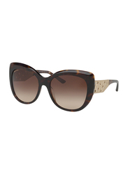 Bvlgari Full Rim Cat Eye Havana Brown Sunglasses for Women, Brown Lens, BV8198B-544113, 57/18/140