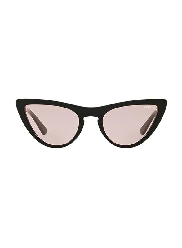 Vogue Full Rim Cat Eye Black Sunglasses for Women, Pink Lens, VO5211S-W44/5, 54/20/140