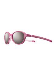 Julbo Frisbee Full-Rim Round Pink Sunglasses for Kids, with Blue Light Filter, Grey Lens, 2-4 Years, JBF-FRISBEEJ5231119, 40/16/109