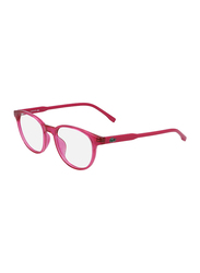 Lacoste Full-Rim Cat Eye Pink Computer Glasses for Kids, with Blue Light Filter, Clear Lens, 8-13 Years, LA-L3631-664-46-BC, 46/17/135
