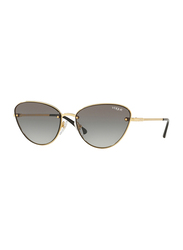 Vogue Full Rim Cat Eye Gold Sunglasses for Women, Black Lens, VO4111S-280/11, 57/16/135