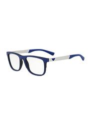 Emporio Armani Full Rim Square Blue/Silver Frame for Men, EM-3133-5667, 53/19/145