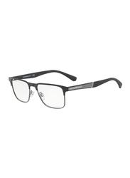 Emporio Armani Full Rim Square Black Frame for Men, EM-1061-3001, 55/17/145