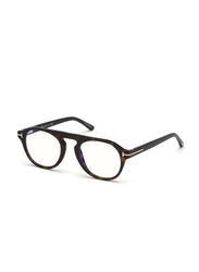 Tom Ford Full Rim Round Havana Frame for Men, FT-5533-B52E49, 48/21/140