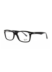 Ray-Ban Full Rim Rectangle Black Frame Unisex, RX5228-2000, 53/17/140