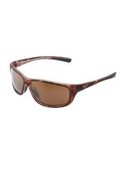 Maui Jim Polarized Full Rim Rectangle Tortoise Sunglasses Unisex, Brown Lens, MJ-H278-10MR, 63/16/125