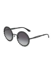 Dolce & Gabbana Full Rim Round Black Sunglasses for Women, Black Gradient Lens, DG2173B-01/8G, 56/21/140