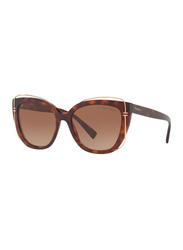 Tiffany&Co Full Rim Cat Eye Brown Sunglasses for Women, Brown Lens, TF-4148-80023B, 54/17/140