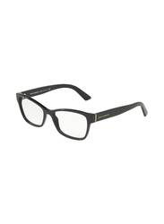 Dolce & Gabbana Full Rim Square Black Frame for Women, DG3274-501, 52/17/140
