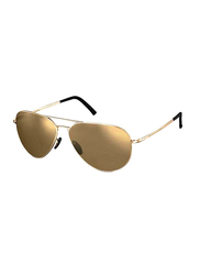 Porsche Design Full Rim Aviator Gunmetal Sunglasses Unisex, Brown Lens, PD-8508E, 60/12/140