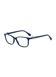 Fendi Full Rim Rectangle Blue Frame for Women, FN-0331-PJP5415, 54/15/145