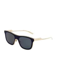 Dolce & Gabbana Full Rim Rectangle Gold Dark Grey Sunglasses for Men, Grey Lens, DG2174-02/96, 42/14/145