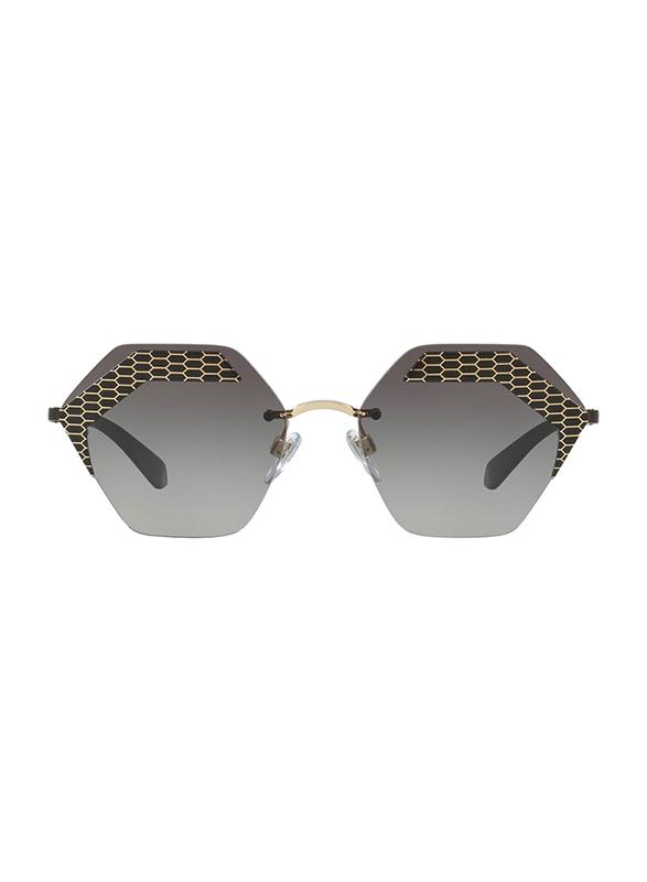 Bvlgari Rimless Serpenteye Black Sunglasses for Women, Grey Gradient Lens, BV6103-20288G, 57/17/140