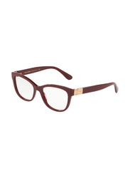 Dolce & Gabbana Full Rim Square Bordeaux Frame for Women, DG3290-3091, 54/17/140
