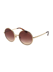 Vogue Full Rim Round Gold Sunglasses for Women, Brown Gradient Lens, VO4085S-848/13, 50/19/135