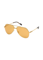 Tom Ford Full Rim Aviator Gold Sunglasses for Men, Gold Yellow Lens, FT-064432J62, 62/15/140