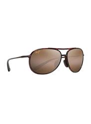Maui Jim Polarized Full Rim Aviator Tortoise Sunglasses Unisex, Brown Lens, MJ-H438, 60/16/140