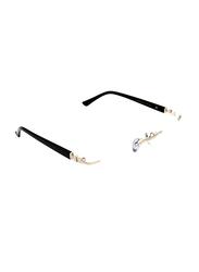 Noor Rimless Rectangle Black/Silver Frame for Women, NR-NO3100-C101