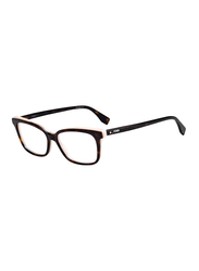 Fendi Full Rim Rectangle Havana Frame for Women, FN-0252-0865215, 52/15/140