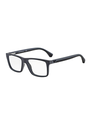 Emporio Armani Full Rim Rectangle Black Frame Unisex, EM-3034-5229, 53/16/145