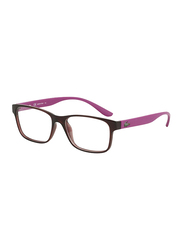 Lacoste Full-Rim Square Burgundy Computer Glasses for Kids, with Blue Light Filter, Clear Lens, 8-13 Years, LA-L3804B-615-51-BC, 51/16/135
