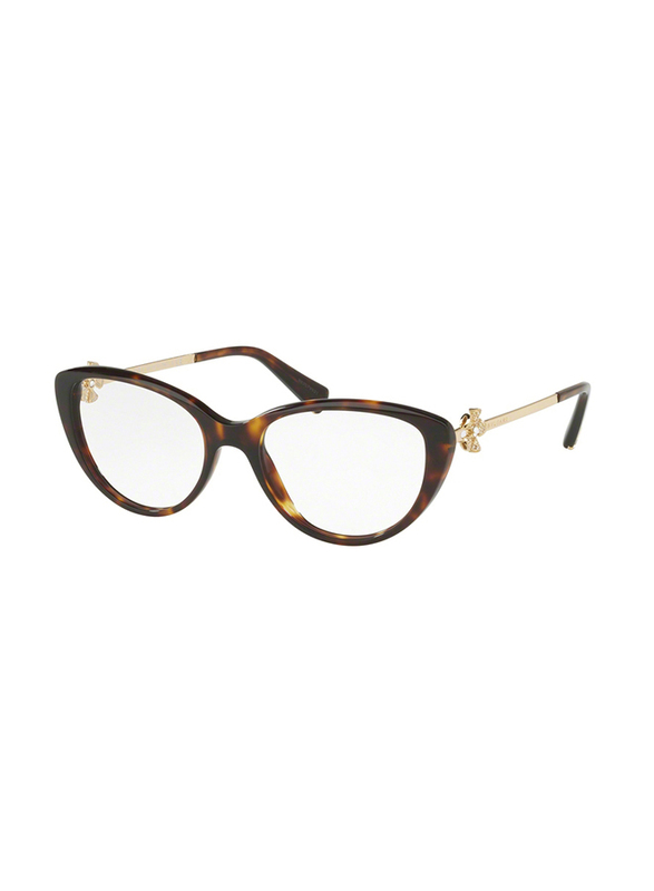 Bvlgari Full Rim Cat Eye Havana Frame for Women, BV4146B-504, 59/17/140