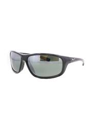 Maui Jim Polarized Full Rim Rectangle Black Sunglasses Unisex, Grey Lens, MJ-278, 63/16/125