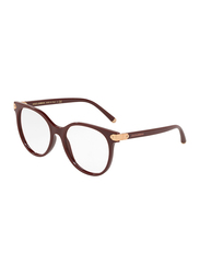 Dolce & Gabbana Full Rim Round Bordeaux Frame for Women, DG5032-3091, 53/17/140
