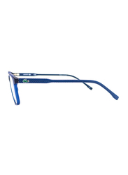 Lacoste Full-Rim Square Blue Computer Glasses for Kids, with Blue Light Filter, Clear Lens, 8-13 Years, LA-L3633-414-49-BC, 49/17/135