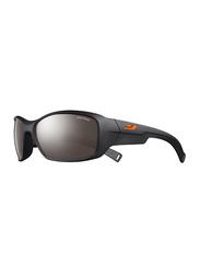 Julbo Romy Full-Rim Rectangle Matte Black Sunglasses for Kids, with Blue Light Filter, Spectron 4 Black Lens, 8-12 Years, JBF-ROOKIEJ4201222, 57/17/120
